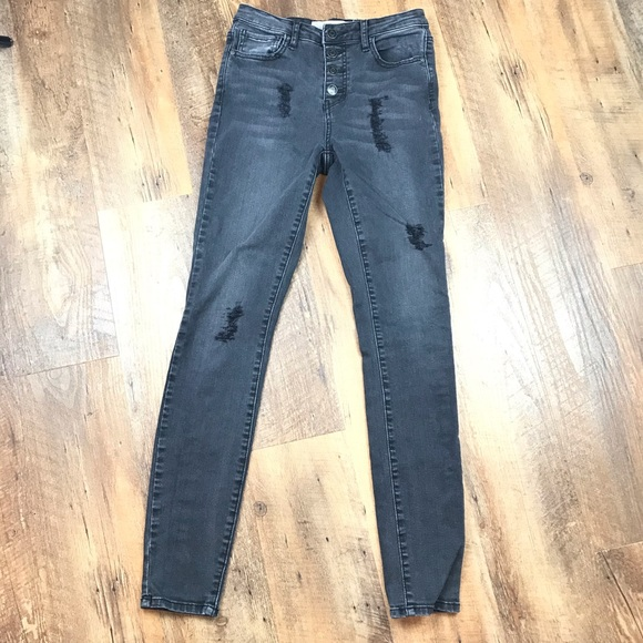 RSQ Denim - RSQ Manhattan High Rise Distressed Black Jeans 3
